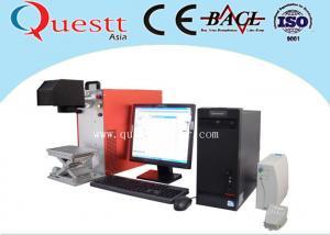 China ラップトップ制御金属/非金属材料のための携帯用繊維レーザーの印機械 on sale