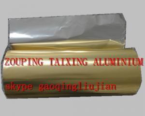 China golden lacquer  aluminium foil for airline container on sale