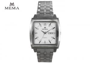 Waterproof Mema Quartz Watch Elegant Mens Watches With Square Face