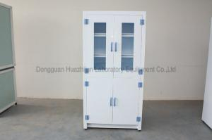 China Durable Medical Storage Cabinets 2 Doors Galvanized Steel Adjustable Feet on sale