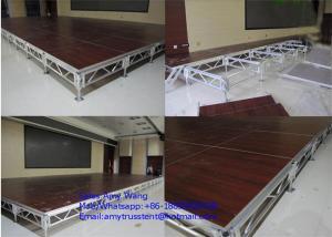 China Aluminium Frame Plywood Board Slide , Water Proof Folding Portable Stage Platform on sale
