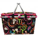 Print Insulated Picnic Basket Bag insulated lunch bag zipper printed cooler bags thermal bags for frozen food