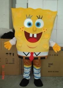 Quality Custom Plush Adult Yellow Spongebob Mascot Costume for sale