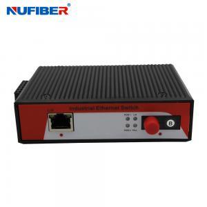 China 1000M Industrial Fiber Converter 1x Rj45+1x1000M Fiber port SM Bidi FC 20km 1310nm/1550nm with Din-rail on sale
