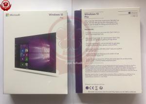 China Genuine Software Windows 10 Pro Retail Box Win 10 Product Key Code Lifetime Guarantee on sale