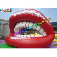 China Red Popular Inflatable Advertising Signs Ladies Lips Teeth Promotion on sale