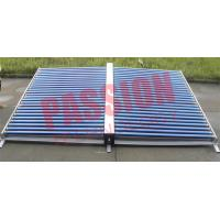 50 Tubes Vacuum Tube Solar Collector Stainless Steel Manifold For Project
