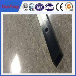 China 6061 t6 aluminum quality factory square tube extrusion profile / cnc drilling square tube on sale