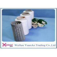 Spun Polyester 20/2 20/3 Raw White Thread , Virgin Polyester Yarn Manufacturing Process