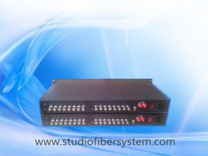 China OEM 16CH HD/3G SDI to fiber converter,16CH SDI signals transmission over 1 fiber for broadcast or CCTV system on sale