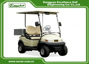 China 2 Seater AC Motor Electric Golf Car 48v Trojan Battery , Electric Hotel Buggy Car on sale