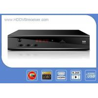 Black Metal Case HD 1080P ATSC Digital Receiver  With USB PVR Support Exteral HDD