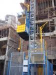 Elevador doble 3200kg del alzamiento de la construcción de la jaula con velocidad
