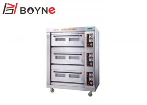 China Gas Industrial Baking Oven Three Deck Six Tray Layer Controlled Separately 20°C~400°C on sale