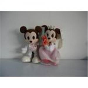 China Plush Wedding Mickey and Minnie toys,Disney toys on sale