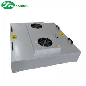 Gray Double Motor Ffu Filter Fan Unit , Clean Room Fan