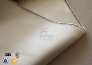 China 800℃ Thermal Insulation Materials / 600g 0.7mm High Silica Cloth Light Brown Color on sale