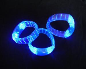 China Red / Blue / Green / White Plastic Flashing Fashion LED Bracelets For Decration SR-LA20 on sale