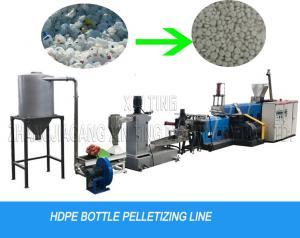 China Milk Bottle Flakes Water Cutting Waste Plastic Recycling Pelletizing Machine Granulator Line on sale