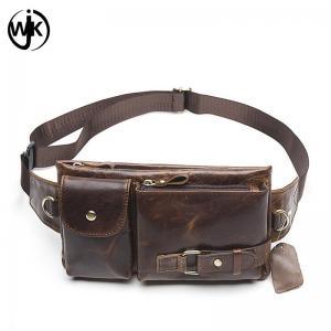 China Wholesale price outdoor waist bag man's leather fanny pack handmade luxury waist bag on sale