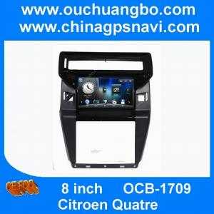 China Ouchuangbo audio gps stereo navigation system Citroen Quatre  with AUX usb BT  sd spanish on sale