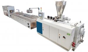 China Flexible PE / PP Plastic Profile Extrusion Line High Speed 6000 Mm Length on sale