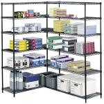 Office Supplies Metal Storage Shelves Heavy Duty Adjustable 4 Tier Wire Rack