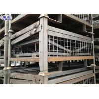 Heavy Duty Pallet Storage Cage Folding Galvanized Metallic Box 1200*1000*890mm