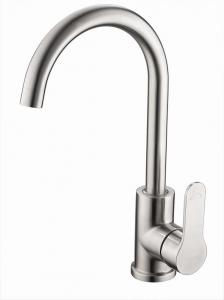 China Contemporary SUS 304 SS Goose Neck Kitchen Faucet Single Lever on sale