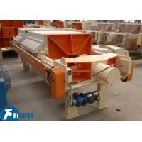 PP Plate Chamber Filter Press For Polished Terrazzo Tiles Wastewater Treatment