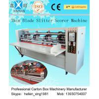 Vertical Semi Automatic Die Cutting Machine , Carton Paper Folding Machine 2200mm