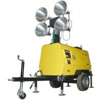 Outdoor Minning Mobile lighting Towers with 3 Cylinder Genset