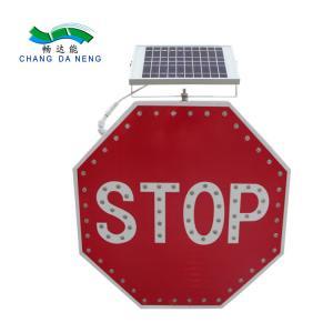 China Aluminum alloy solar led traffic warning signs  road signal flashing stop on sale