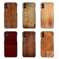 Customized Wood Printed Cell Phone Covers For IPhone X , 3D Sublimation Blank Phone Case