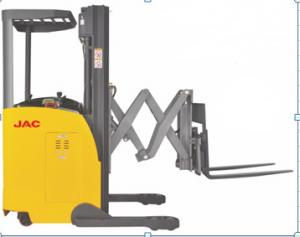 China 1500kg Load Capacity Electric Reach Truck Forklift With Double Scissor on sale