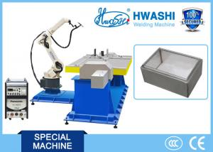 China Steel Cabinet Box Welding Robot , Arc Welding Robot Arm With Panasonic Welder on sale