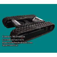 3 ton extendable rubber tracked undercarriage(rubber track frame0