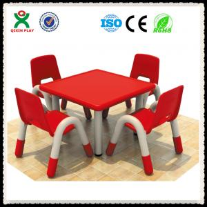 China Preschool Furniture Used Plastic Tables and Chairs for Kids QX-193D on sale
