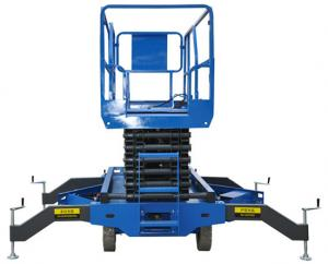 China Man Lifting Use Mobile Scissor Lift 4.5m Max Heiht, Safe And Reliable on sale