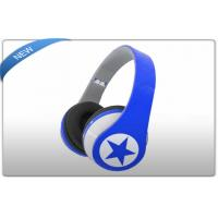 Blue Wireless Headphone Earphone with TF Micro SD Card Slot for Sport MP3 WMA Music Player