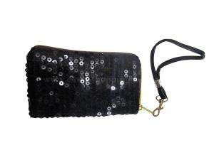 China Black Shining travel cosmetic bag for cosmetic party with handle on sale