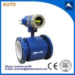 intelligent China wafer type magnetic flow meter for water application 4-20mA output