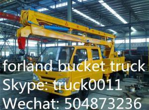 China Foton Aumark  4*2 LHD/RHD 14m aerial platform truck for sale, best price FOTON brand 14m-16m hydraulic bucket truck on sale