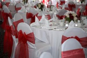 China polyester hotel chair cover on sale