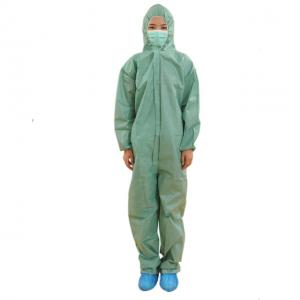 China Waterproof Painters Coveralls Disposable Elastic Cuff For Spray Paint Protection on sale