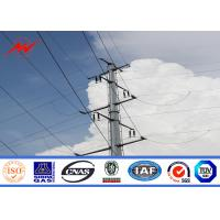 Tapered Electrical Steel Power Transmission Poles With Cross Arms