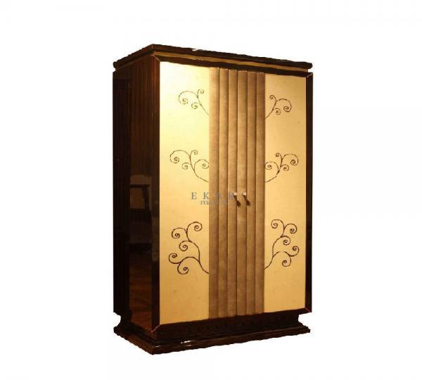 Vintage Style Bedroom furniture sets Two-door Wardrobe with ...