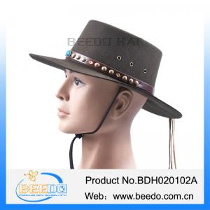 31895efd229 ... Quality 100% wool stetson cowboy hats with leater band and tassel  stetson cap for sale ...