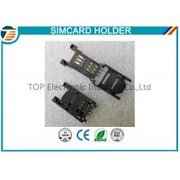 China 2.54MM Pitch SIM Card Holder / SAM Card Holder with HINGED TYPE 6 Pin TOP-SIM01-1 on sale