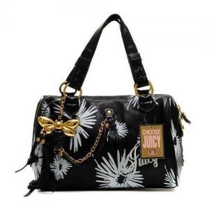 China Wholesale Juicy Couture Daphne Daisy Print Handbag Black on sale